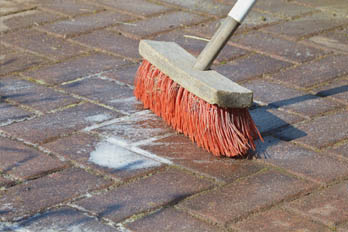 Cleaning A Patio With Bleach